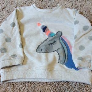 Baby Zara unicorn sweatshirt